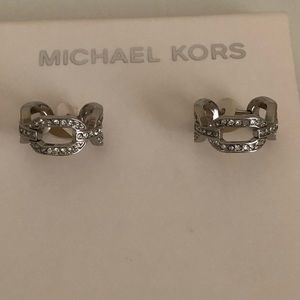 Michael Kors Cityscape Chain Silver Tone Earnings